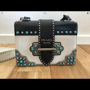 100% Authentic Prada Cahier Texas Bag!